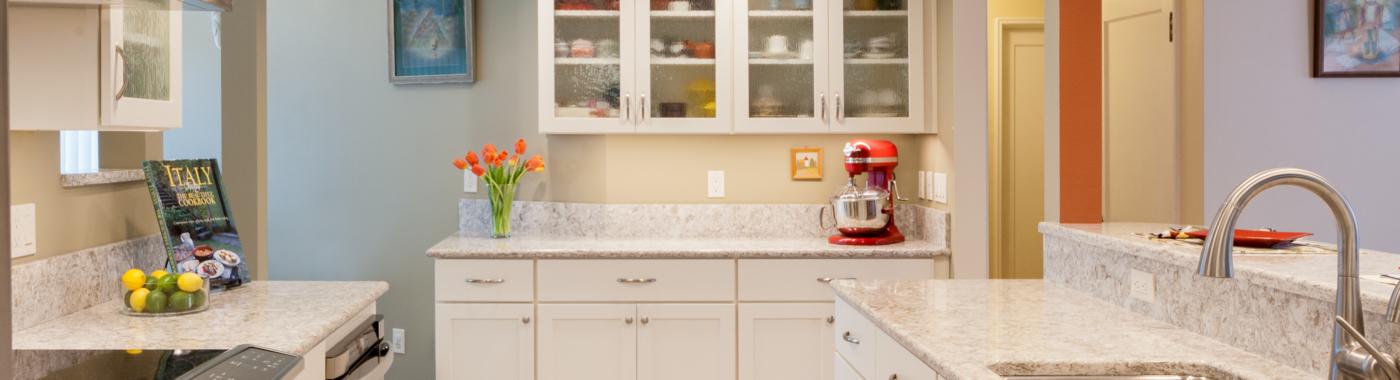 Open Galley Kitchen bright open galley kitchen - mcadams remodeling
