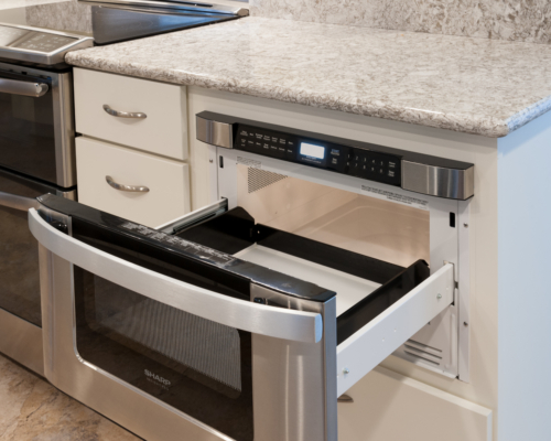 Cabinet microwave oven