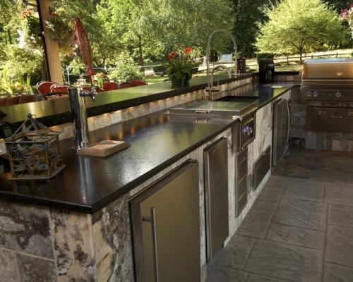 The updated kitchen bar
