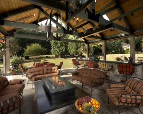 The newly completed outdoor living space