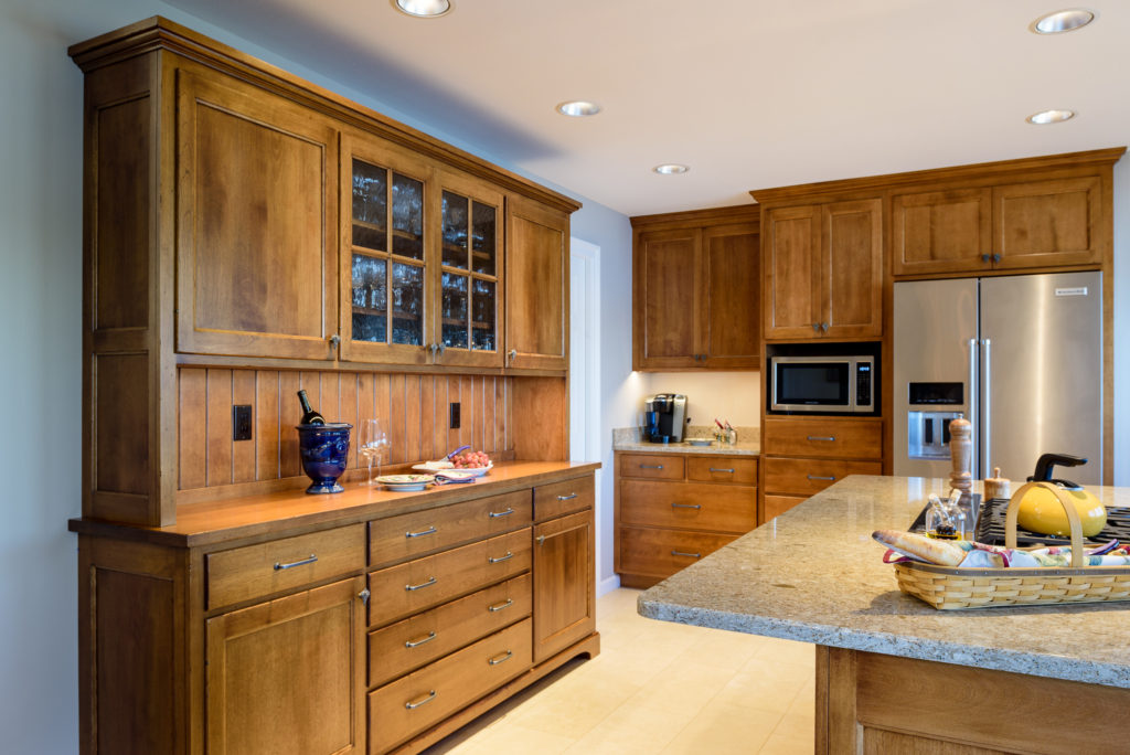New kitchen with beautiful buffet