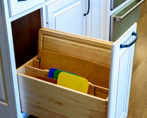 Cutting board storage