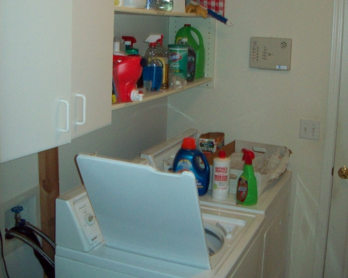 The laundry room before