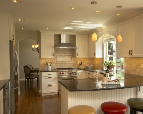 The beautiful remodeled kitchen