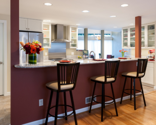 The bright and airy kitchen
