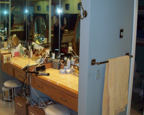 The Pre-Remodel Make-Up Station