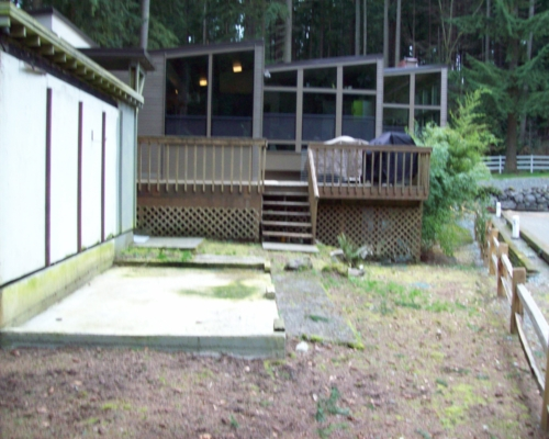 The before front deck that did not fit the architecture