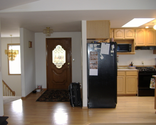 The Kitchen and Entry Before