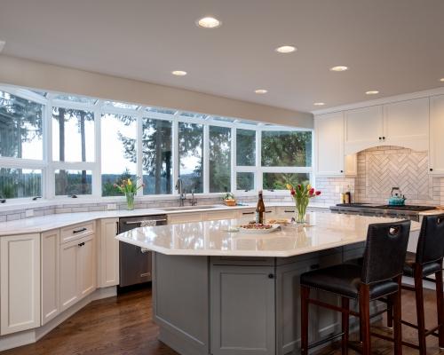 Remodeled kitchen after
