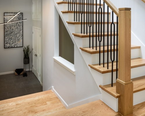 New stairs are beautiful and allow for more natural light.