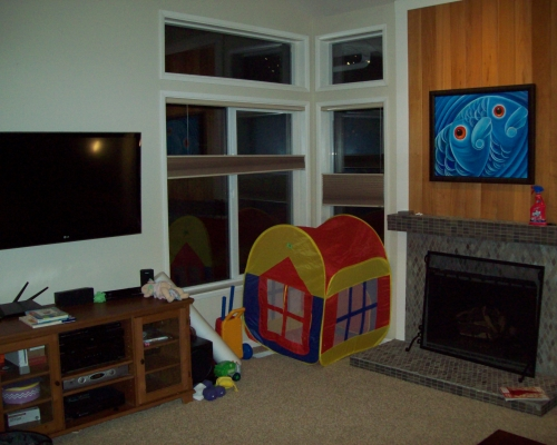 The family room before.