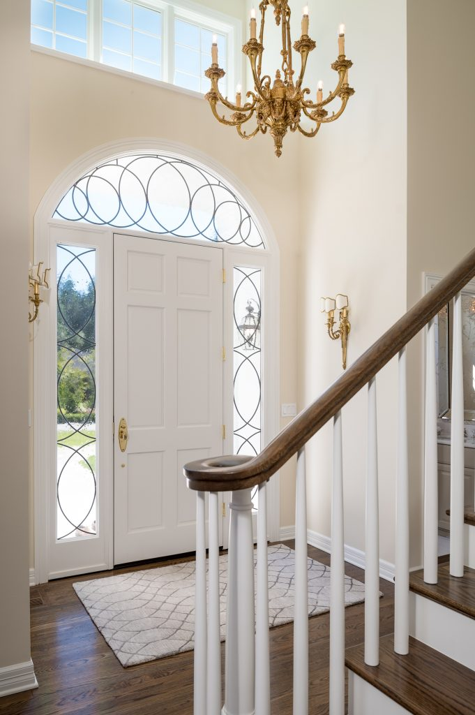 New interior front entry