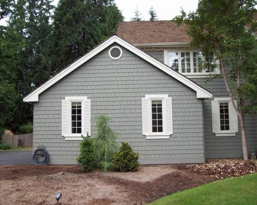 Side of original garage