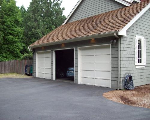 Original three bay garage