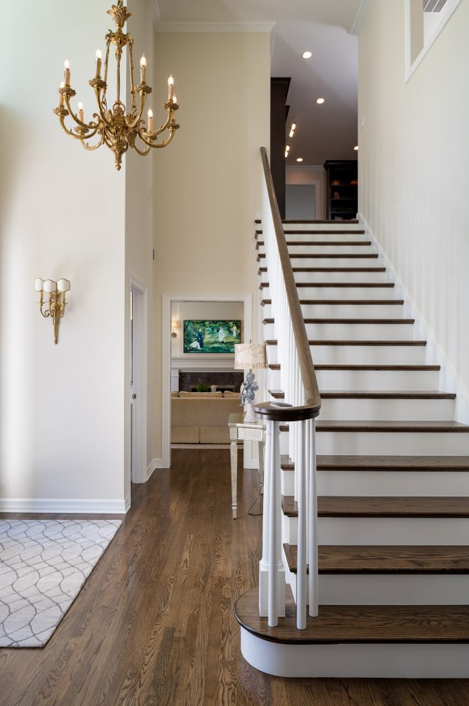 Updated stairs and hallway