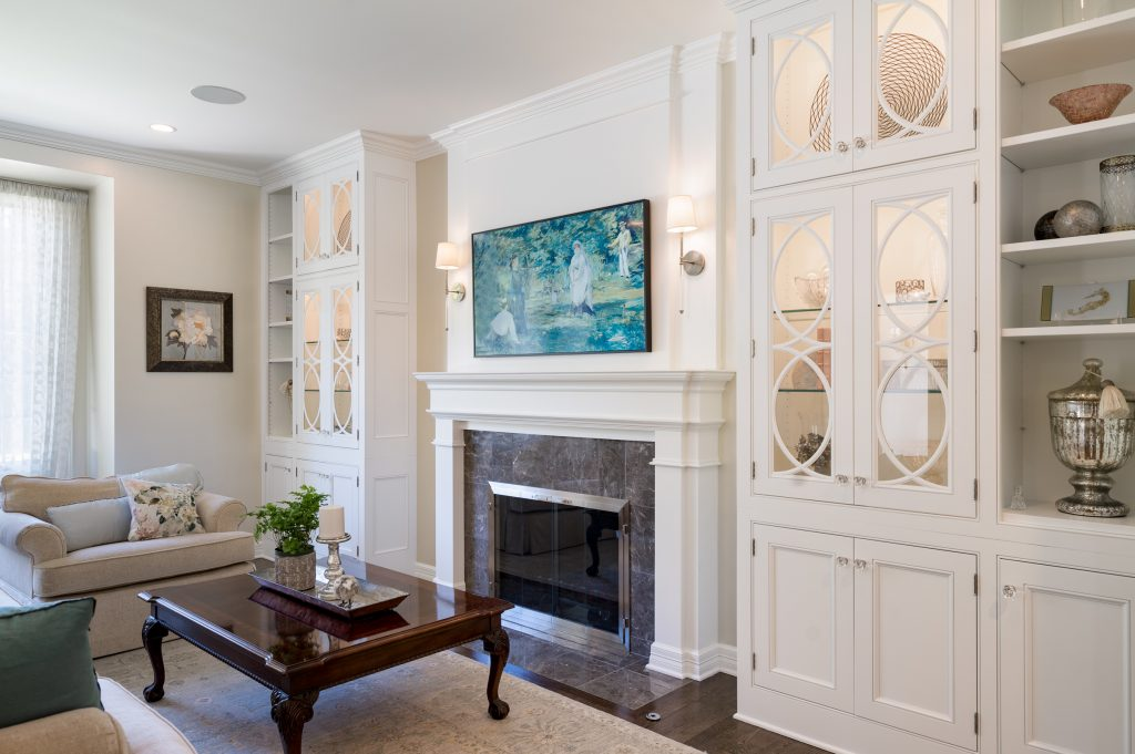 Gorgeous new living room cabinetry