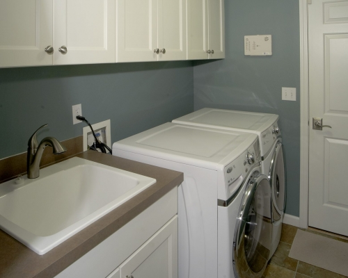 The remodeled laundry room